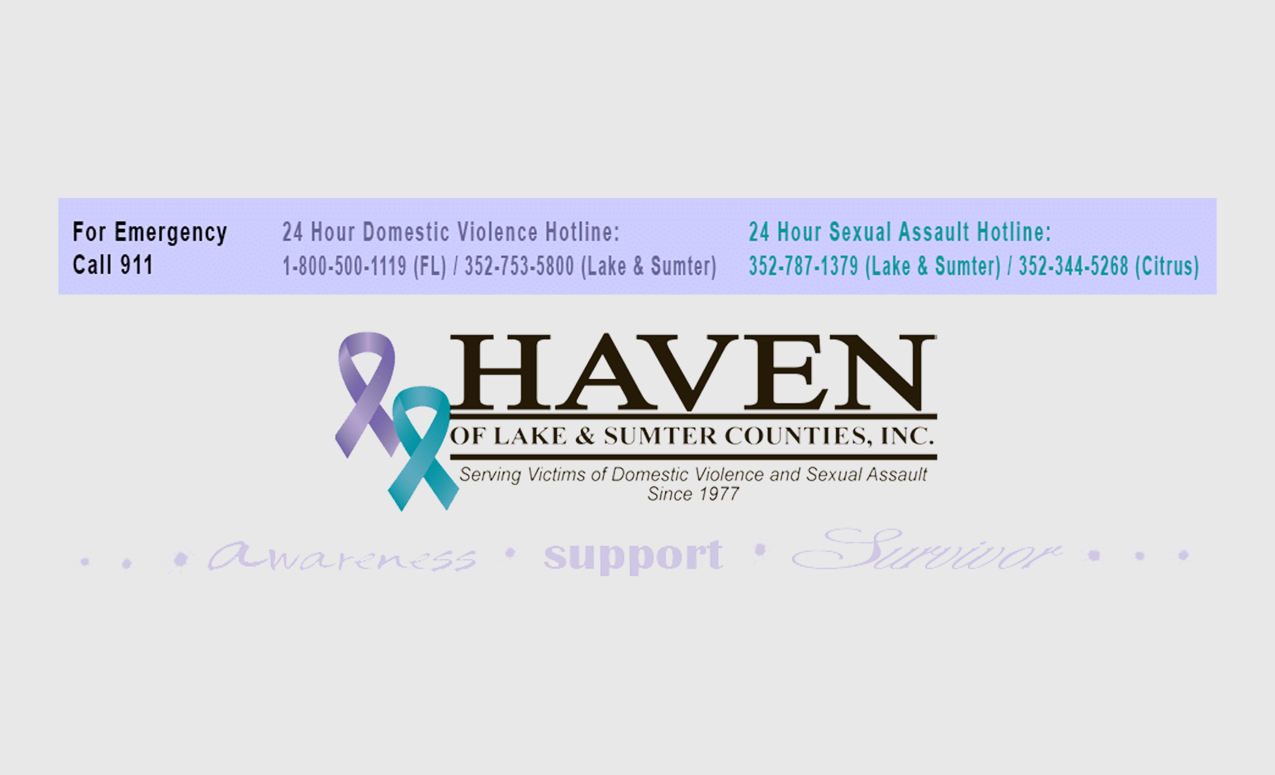 Crippen Cares™ Non-Profit September Spotlight: Haven of Lake & Sumter Counties, Inc.
